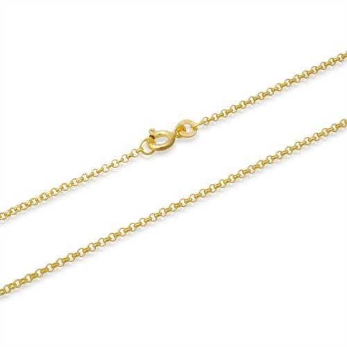 Anker halskæde i forgyldt Sølv - 1,2 mm fra 38 cm