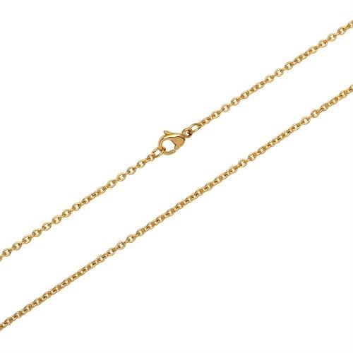Anker halskæde i forgyldt Sølv - 0,6 mm fra 36 cm