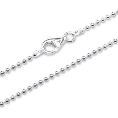 Kugle halskæde i Sølv - 1,5 mm - fra 42 cm