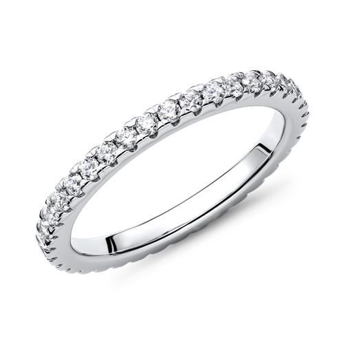 Forlovelsesring i Sølv med Zirkonia