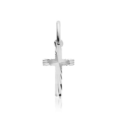 Kors i Sølv - 8 x 19 mm
