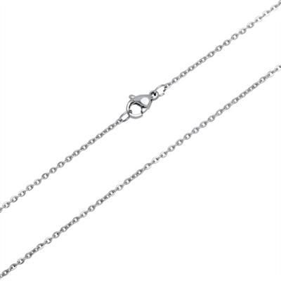 Anker halskæde i Stål -1,5 mm fra 40 cm
