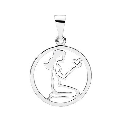 Stjernetegn i Sølv med Jomfruen - 20 mm