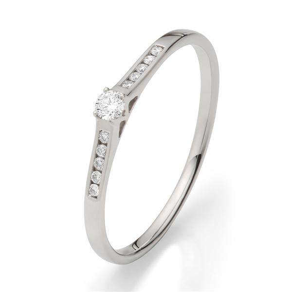 BARTOLI Diamantring i 18 kt. Hvidguld - 0,10 ct.