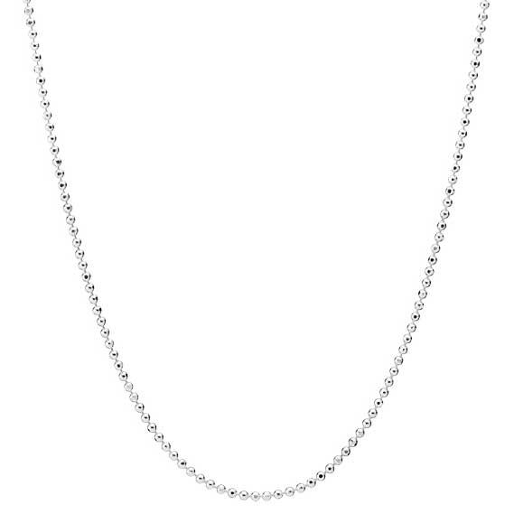 Kugle halskæde i Sølv - 1,15 mm fra 45 cm